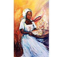 Winnowing Malawi Lady Photographic Print