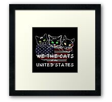 We The Cats Of The United States Dark Framed Print