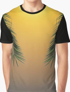 Palm Leaf Sunset 2 Graphic T-Shirt