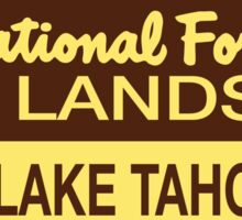 Lake Tahoe Basin National Forest Lands Sticker