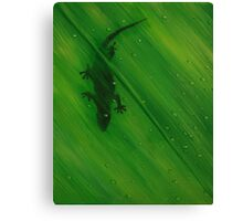 Gecko Leaf Canvas Print