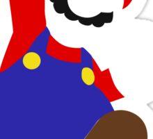 Simple Mario Bros Vector Sticker