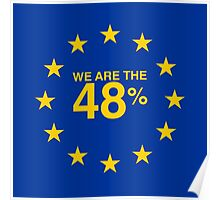 I voted Remain 48% Poster