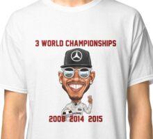 Lewis Hamilton 3rd World Championship 2015 Classic T-Shirt