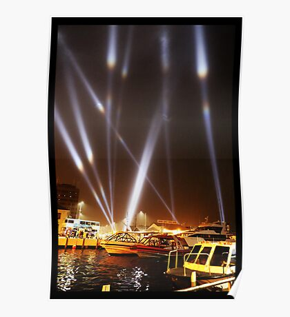 Dark Mofo 2014 - Articulated intersect - Hobart light show Poster