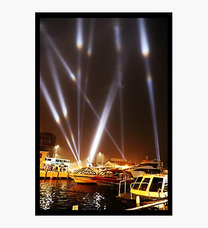 Dark Mofo 2014 - Articulated intersect - Hobart light show Photographic Print
