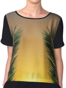 Palm Leaf Sunset Chiffon Top