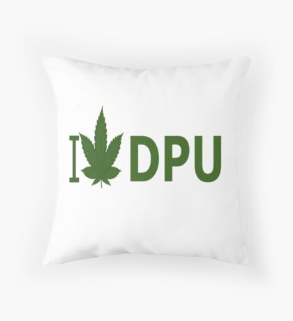 I Love DPU Throw Pillow