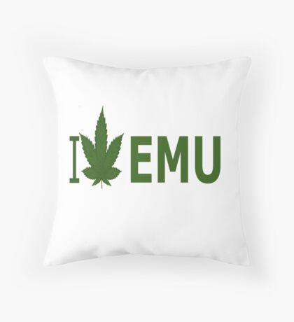 I Love EMU Throw Pillow