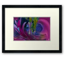 Butterfly in the Cornflowers No 1 Framed Print