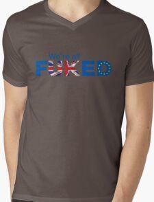 UK Is Fu*ked, Brexit T-shirt Mens V-Neck T-Shirt