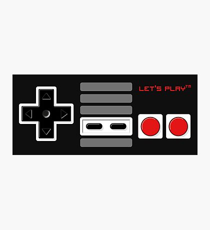 Let's play - Controller Photographic Print