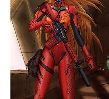 Evangelion Asuka Soldier by B11ZZ4RD