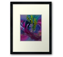 Butterfly in the Cornflowers No 2 Framed Print