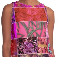 Floral Food Abstract Collage Contrast Tank