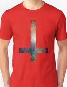 Rainbow Galaxy Inverted Cross Unisex T-Shirt