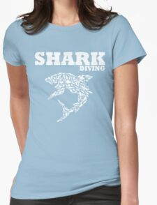 funny diving shark divers Womens Fitted T-Shirt