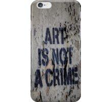 Art is Not a Crime - Graffiti Art - Brooklyn iPhone Case/Skin