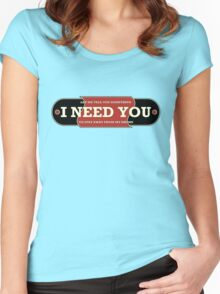 I need you (drums) Women's Fitted Scoop T-Shirt