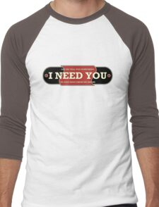 I need you (drums) Men's Baseball ¾ T-Shirt