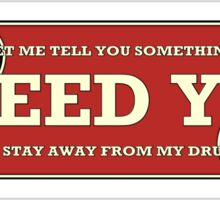 I need you (drums) Sticker