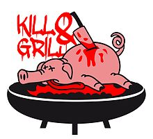 Barbecue grill knife kill pig by Style-O-Mat
