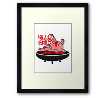 Barbecue grill knife kill pig Framed Print