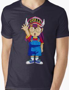 Arale  Mens V-Neck T-Shirt