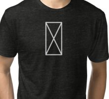 White Cross Tri-blend T-Shirt