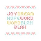 cross stitch design words by Potato  Sprout