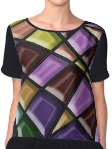 Modern Stylish Abstract Pattern Chiffon Top