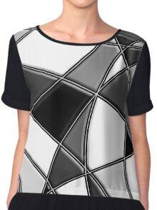 Modern Stylish Abstract Pattern Chiffon Top