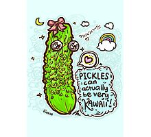 Pickles Can Be Very Kawaii! 3 Photographic Print