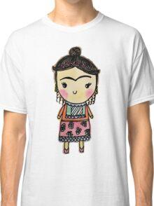 Watercolor Frida Kahlo Pattern Classic T-Shirt