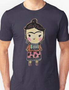 Watercolor Frida Kahlo Pattern Unisex T-Shirt