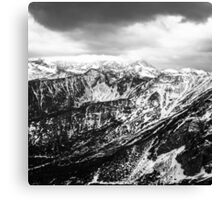 view on the High Tatras III Canvas Print