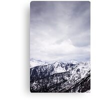 view on the High Tatras II Canvas Print