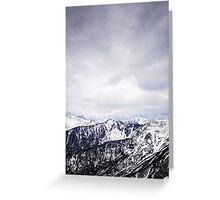 view on the High Tatras II Greeting Card