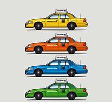 4 Color Crown Vic Cabs Unisex T-Shirt