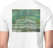 MONET, Claude, Artist, Art, Painter, Oil Painting, Canvas, The Japanese Footbridge, 1899 Unisex T-Shirt