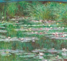 MONET, Claude, Artist, Art, Painter, Oil Painting, Canvas, The Japanese Footbridge, 1899 Sticker