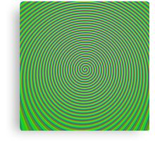 Trippy Colors Green Canvas Print