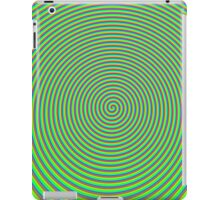 Trippy Colors Green iPad Case/Skin