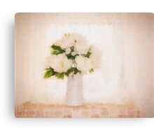 Hi key picture of white flowers Canvas Print