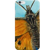 Grey Comma Butterfly iPhone Case/Skin