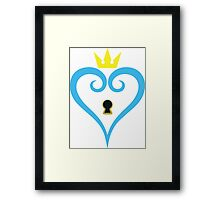 Kingdom Hearts-Heart Keyhole Without wings Framed Print