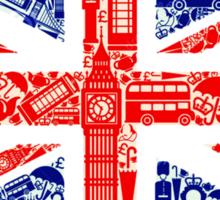 Landmark and Flag Sticker