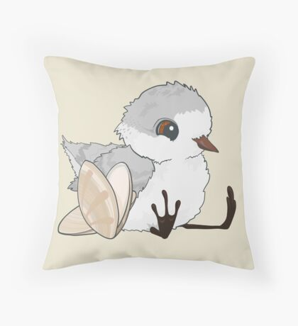 Piper - Baby Sandpiper with Shells Throw Pillow
