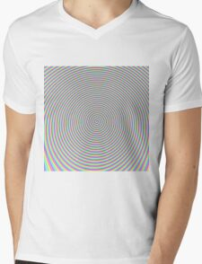 Trippy Colors Purple Mens V-Neck T-Shirt