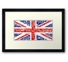 Landmark and Flag Framed Print